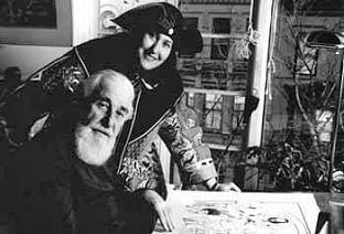 Al Hirschfeld and Margo Feiden, 1991