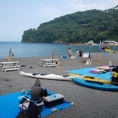 海水浴場のすぐ横にはダイビングスポット
