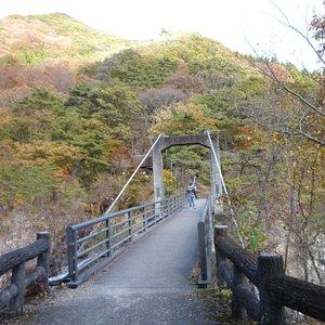 秋のむささび橋