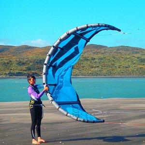 Kite boarding lessons