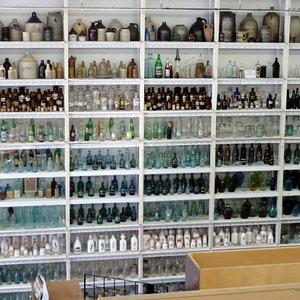 Shelves of bottles