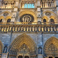 The amazingly detailed facade of Notre Dame de Paris