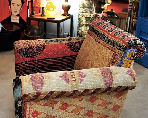 "Fauteuil ""patchwork"", en tissu provenance: Inde"