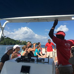 Kennedy, Gabi and the group on the boat!