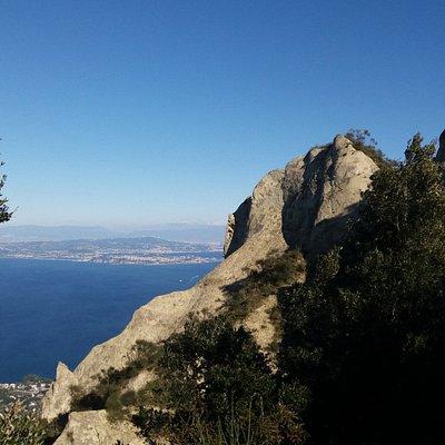 La vista dalla cima del Monte