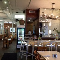 Interior view of Briarpatch...we rather love sitting outside !