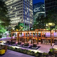 Stop by and enjoy Houston's Newest Place to Mingle, Sip and Relax Under the Texas Stars.