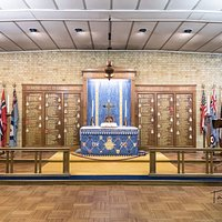The altar surrounded by the names of the Squadrons based at Biggin Hill