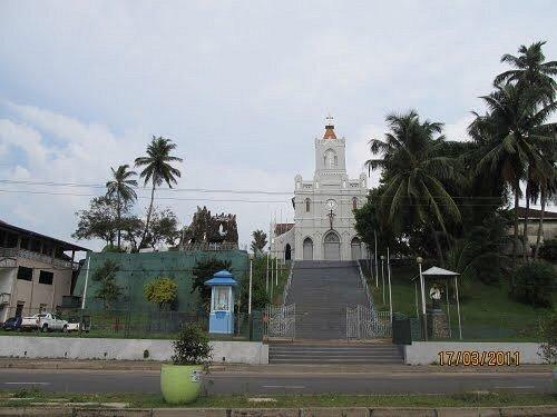 The View of Holy Cross Church Kalutara