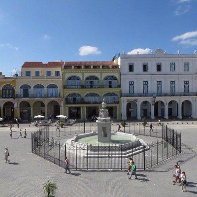 view of plaza vieja from balcony