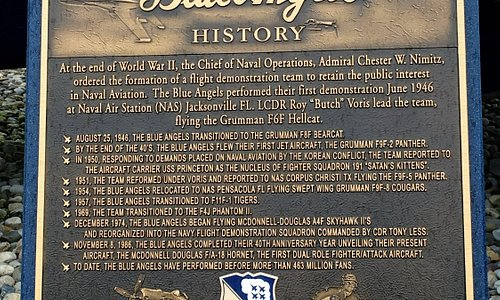 marker of Blue Angels History