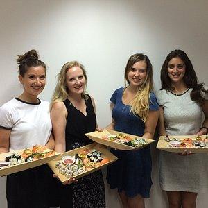 Beautiful Sushi from our Sushi Class