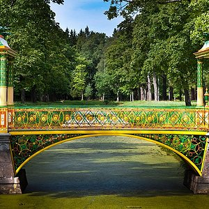 The Bridge in Alexander Park, Tsarskoye Selo, Pushkin, Russia