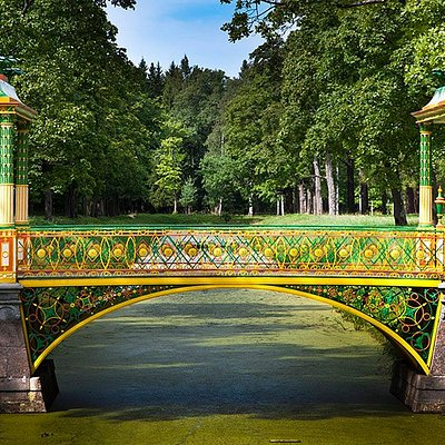 The Bridge in Alexander Park, Tsarskoye Selo, Pushkin, Russia
