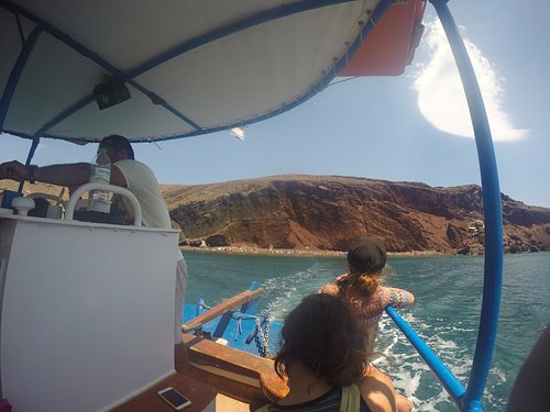 Leaving the red beach