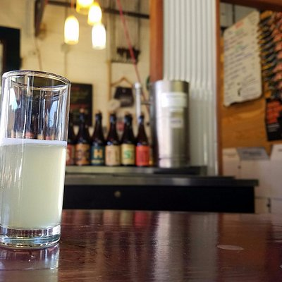 A tasting glass of Gose!