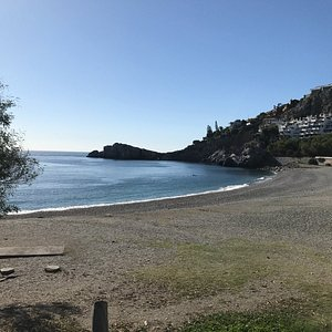 The diving beach at the marine reserve near Nerja