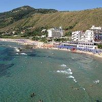 veduta dall'alto del ristorante mediterraneo