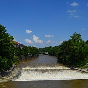 Río Isar y parque