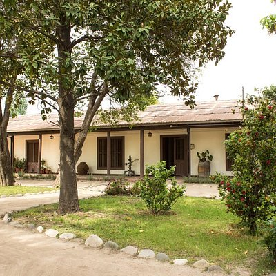 The winery is located in a hundred-year-old post-colonial adobe house