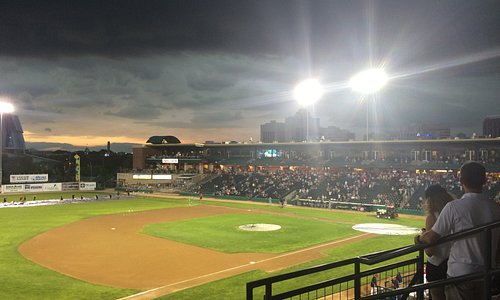Game delay as the storm is rolling in