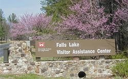 Sign at entrance of Falls of Neuse Road