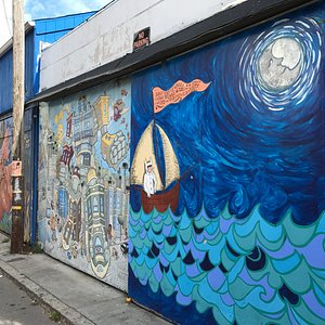 A few of the murals along the alley