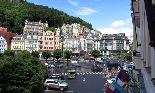 The view of Karlovy Vary from our hotel