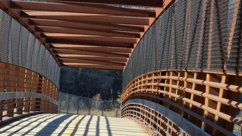 Foot bridge over Highway 3