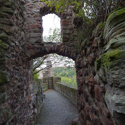 Burg Giebichenstein, Zugang zur Aussichtsterrasse