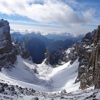 Campanile della Val Montanaia in versione autunnale (ottobre 2013)