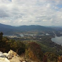 Spectacular views of surrounding mountains including Brasstown Bald. Also Lake Chatuge and Hiawa