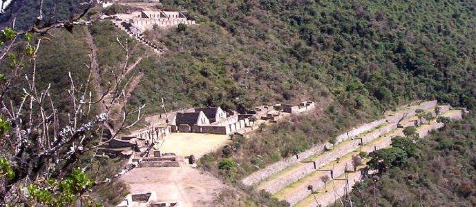 Choquequirao, hermoso poblado Inka ubicado sobre el cañon del Apurimac, en los andes y la selva de Cusco.