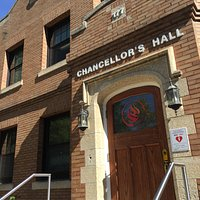 Exterior of Chancellors Hall, home of  National Center for Truth and Reconciliation, Winnipeg, M