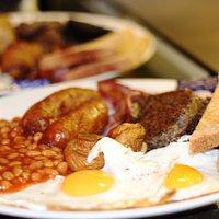 Breakfast deal at The Abbey Bar Edinburgh. Breakfast menu served all day