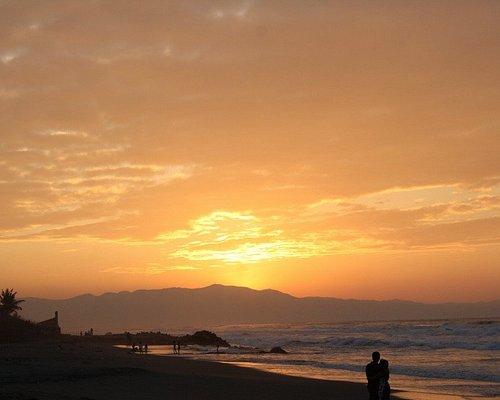 Sunset at Bonuan Blue Beach