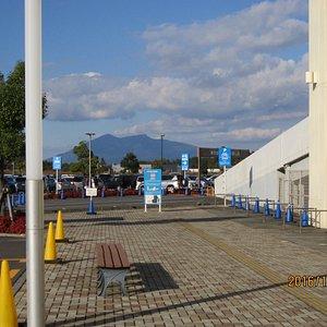 筑波山が近くに見えます