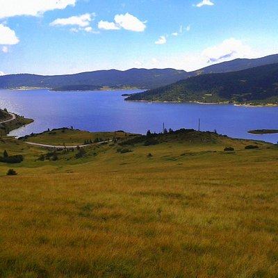Belmeken dam in Rila mountain, Bulgaria