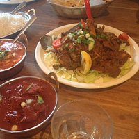 butter chicken, beef vindaloo and lamb leg special.