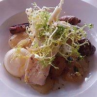 BAKAD KUMMEL – med jordärtskocka, citron, stekt potatis och aioli