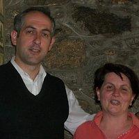 Employee and chef inside Restoran Andora.  Just good people all around!