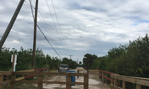 Fishing pier at the end of the road