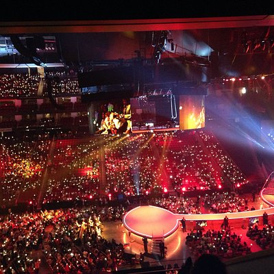A view of a concert