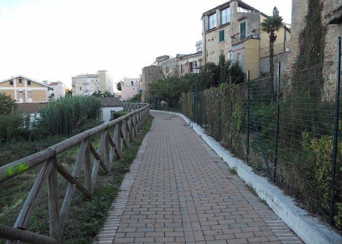 Walkway outside town wall