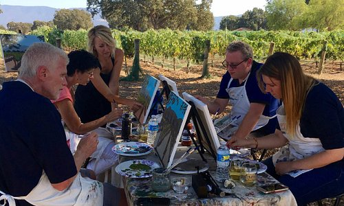 Private Painting in the Vineyard at Roblar Winery