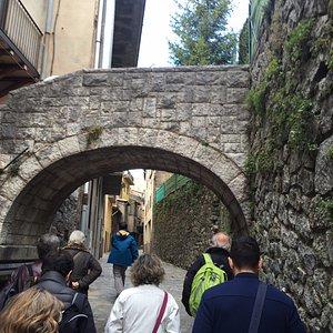 Callejuelas de Camprodon subiendo al castillo