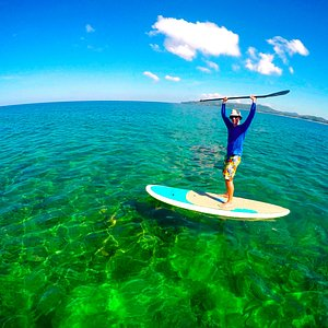 SUP in the crystal water of Phuket with Skyla's Surf School