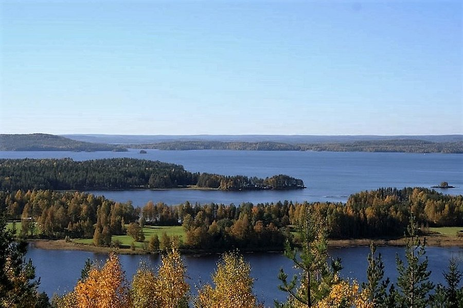 The landscapeover the lake Pielinen in autumn colors