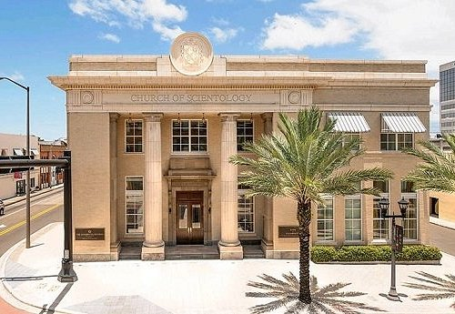 The Scientology Information Center, housed in the Historic Bank of Clearwater built in 1918
