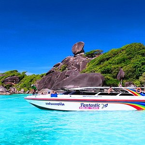 SIMILAN Island No.8 and our Speed Boat.